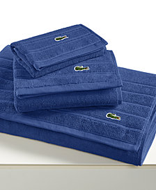 CLOSEOUT! Lacoste Croc Solid Bath Towel Collection, Pure Cotton