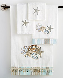 """By the Sea"" Fingertip Towel, 11x18"""