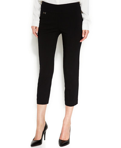 Alfani Tummy-Control Pull-On Capri Pants, Only at Macy's - Pants ...