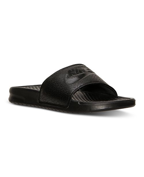 ca6c51668f19 Nike Men s Benassi JDI Slide Sandals from Finish Line   Reviews ...