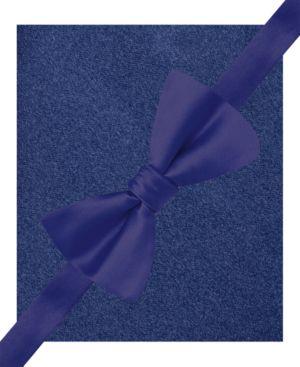 Alfani Men's Blue Bow Tie & Pocket Square Set, Created for Macy's thumbnail
