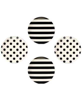 kate spade new york Set of 4 Raise a Glass Melamine Tidbit Plates