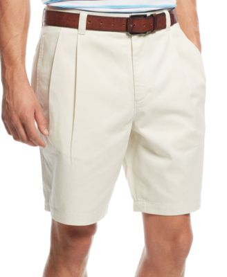 Club Room Mens Double-Pleated Shorts Only at Macys