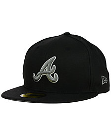 New Era Atlanta Braves Black Graphite 59FIFTY Cap