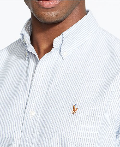 f9cf21e5a1 ... Polo Ralph Lauren Men's Long-Sleeve Multi-Striped Oxford Shirt ...