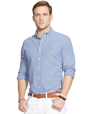Polo Ralph Lauren Men S Long Sleeve Checked Oxford Shirt Reviews