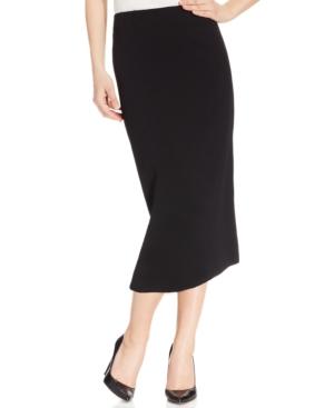 1950s Swing Skirt, Poodle Skirt, Pencil Skirts Kasper Crepe Pencil Midi Skirt $69.00 AT vintagedancer.com