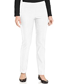 Petite Cambridge Tummy-Control Slim-Leg Pants, Petite & Petite Short, Created for Macy's