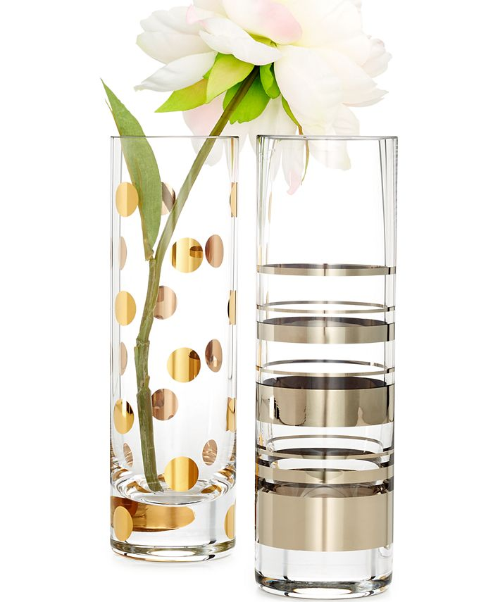 kate spade new york - Macy's Exclusive Hampton Street and Pearl Place Cylinder Bud Vases