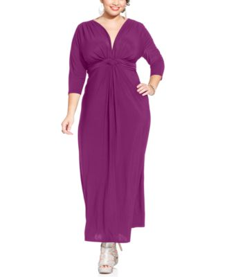 Sleeved maxi dress size 18