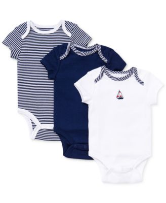 Baby Boys Sailboat Bodysuits 3-Pack