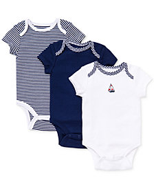 Little Me Baby Boys Sailboat Bodysuits 3-Pack