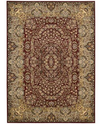 "Home Antiquities Stately Empire Burgundy 9'10"" x 13'2"" Area Rug"