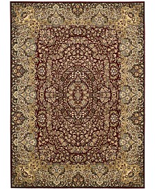 "kathy ireland Home Antiquities Stately Empire Burgundy 5'3"" x 7'4"" Area Rug"