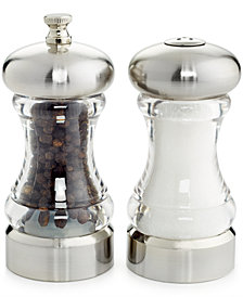 Martha Stewart Collection Acrylic 2-Pc. Salt Shaker & Pepper Mill Set, Created for Macy's