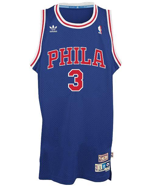 25c13787 adidas Men's Allen Iverson Philadelphia 76ers Swingman Jersey ...