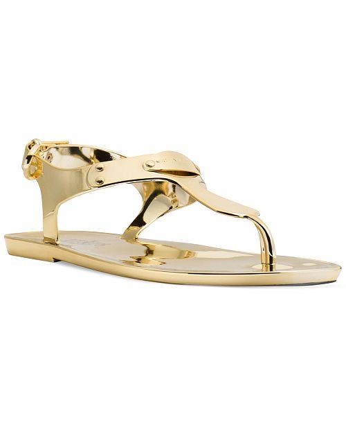 3055e3f96b18 Michael Kors Plate Jelly Thong Sandals   Reviews - Sandals   Flip ...