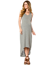 A Pea In The Pod Maternity High-Low Racerback Maxi Dress