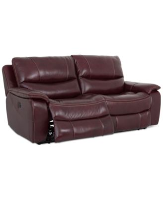 "CLOSEOUT! Daren 82"" Leather 2-pc Power Reclining Sectional Sofa, Created for Macy's"