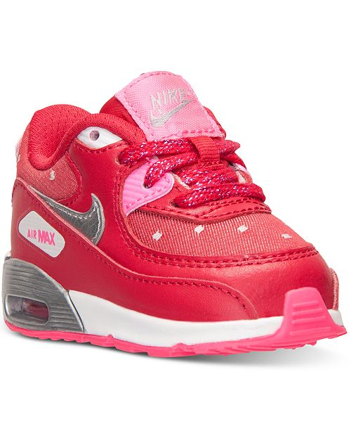 on sale 5f02a 8ef03 Nike Toddler Girls  Air Max 90 Print Running Sneakers from Finish ...