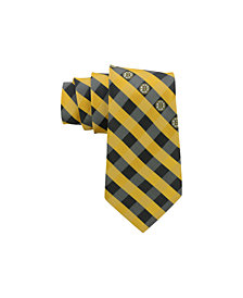 Eagles Wings Boston Bruins Checked Tie