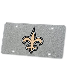Stockdale New Orleans Saints Glitter License Plate
