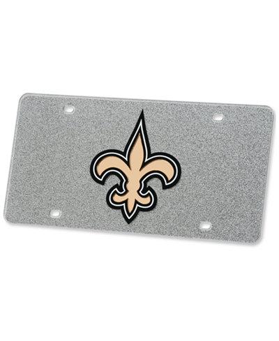 Stockdale New Orleans Saints Glitter License Plate