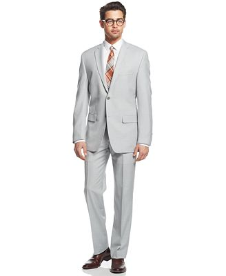 Alfani Light Grey Slim-Fit Suit Separates - Suits & Suit Separates