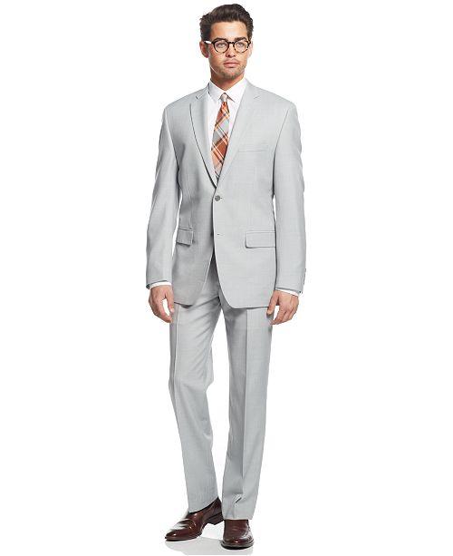 Light Grey Slim Fit Suit 6Ky9
