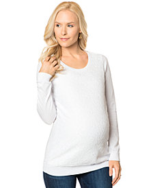 A Pea In The Pod Long-Sleeve Scoop-Neck Maternity Sweater