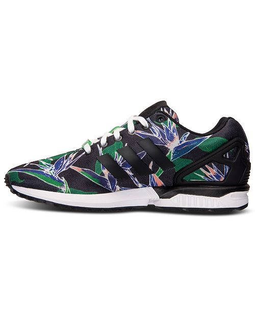 bd52db1eb8730 ... adidas Men s ZX Flux Floral Print Casual Sneakers from Finish Line ...