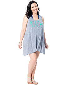 Motherhood Maternity Plus Size Graphic Swim Cover-Up