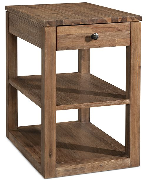 Furniture Champagne Cube End Table, Created for Macy's