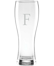 Lenox Tuscany Monogram Barware Wheat Beer Glasses, Set of 4, Block Letters