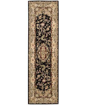 Nourison Area Rug Wool Silk 2000 2028 Black 2 3 X 8 Runner Rug