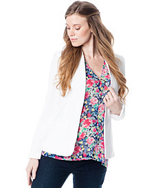 A Pea in the Pod Maternity Open-Front Crepe Jacket
