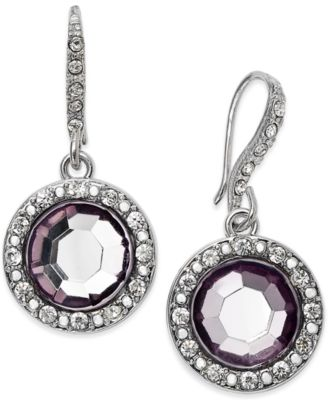Image of INC International Concepts Round Stone Drop Earrings, Only at Macy's