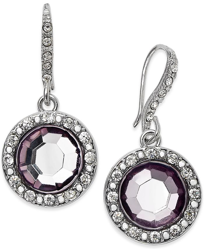 INC International Concepts - Round Blue Stone Drop Earrings