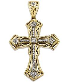 Men's Diamond Cross Pendant in 10k Gold (1/6 ct. t.w.)
