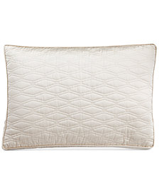 Hotel Collection Woven Texture Quilted Standard Sham