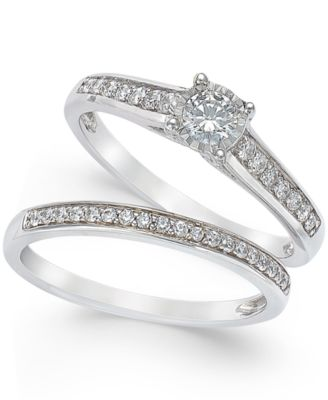 TruMiracle Diamond Engagement Ring And Wedding Band Set (1/2 Ct. T.w.)