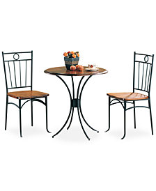 Littleton 3 Piece Bistro Dining Set, Quick Ship