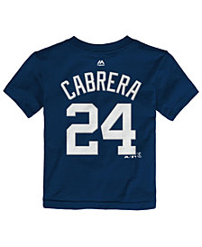 Majestic Toddlers' Miguel Cabrera Detroit Tigers Player T-Shirt