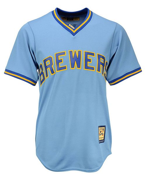 newest 1ccca 5a31f Robin Yount Milwaukee Brewers Cooperstown Replica Jersey