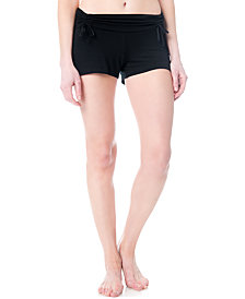 A Pea In The Pod Maternity Ruched Sleep Shorts