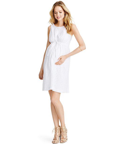 Jessica Simpson Maternity Sleeveless Eyelet Dress