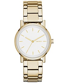 Women's Soho Gold-Tone Stainless Steel Bracelet Watch 34mm, Created for Macy's