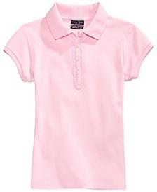 Little Girls Ruffle-Trim Polo Shirt