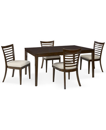 brisbane 5 piece dining room furniture set furniture macy 39 s