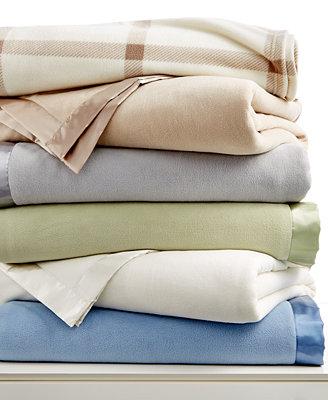 Martha Stewart Soft Fleece Queen Blanket (Twin, Queen, King) + Tommy Hilfiger Logo Queen Pillow $16 + Free Store Pickup at Macys